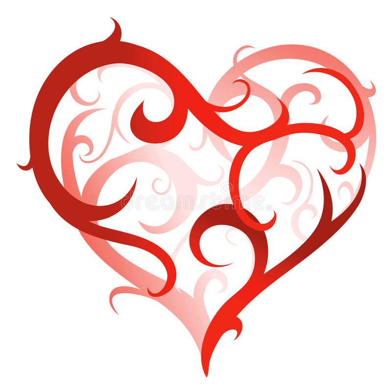 Artistic heart-shape royalty free illustration