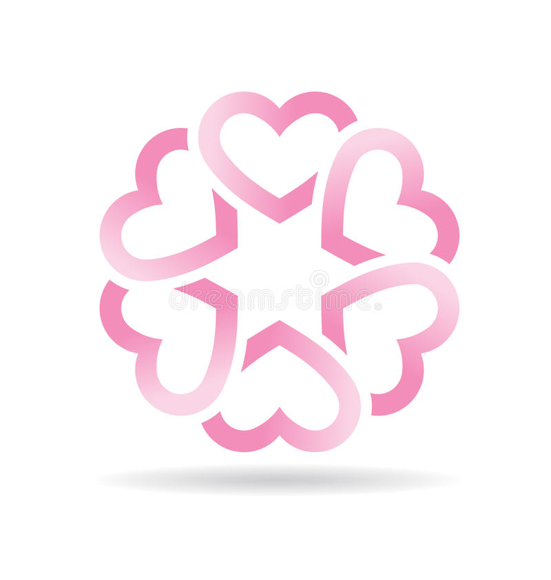 Artistic Hearts flower royalty free stock photos