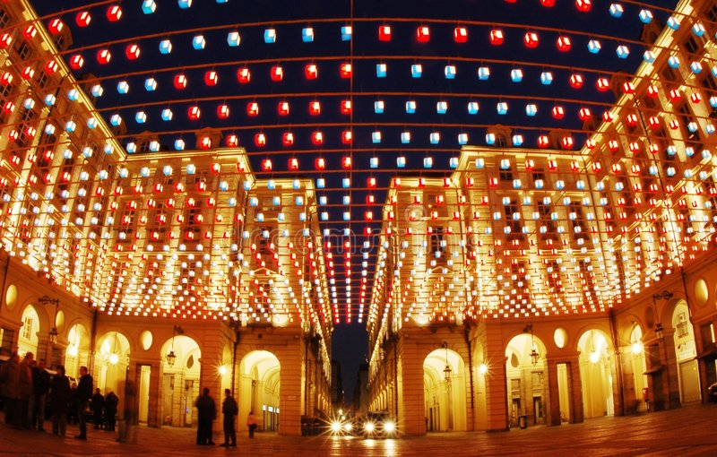 Download Artistic Lights Buildings Royalty Free Stock Images - Image: 3776869