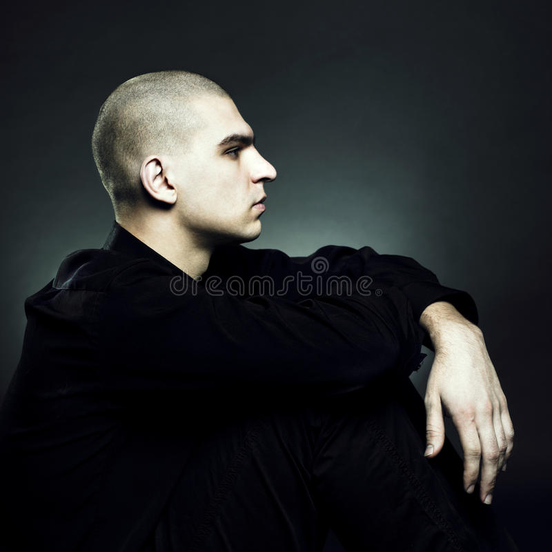 Download Artistic Man On Black Background Stock Photo - Image: 17403044
