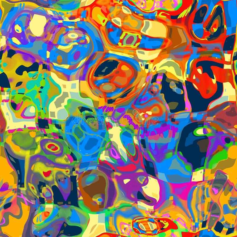 Download Artistic Mashed Up Abstract Background Stock Illustration - Illustration of textile, fashion: 110547831