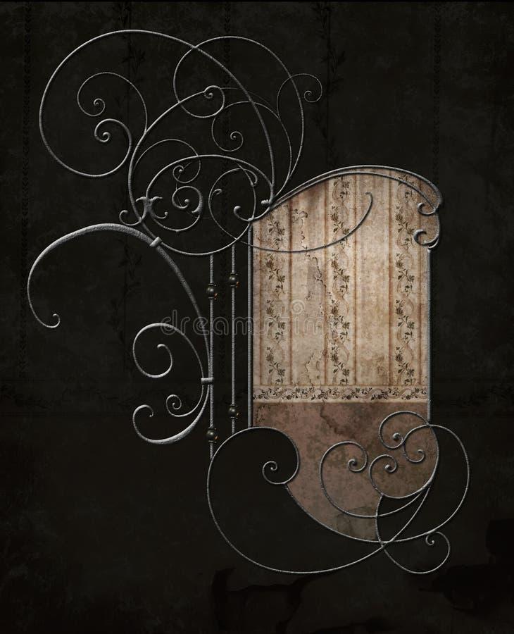 Artistic metallic design royalty free illustration