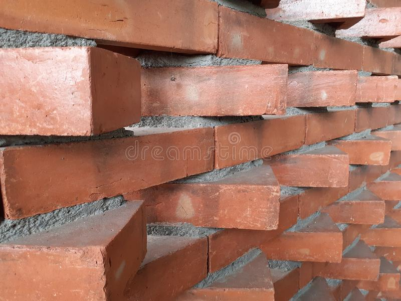Artistic and Modern Style Brick Texture of a Building 01 stock images