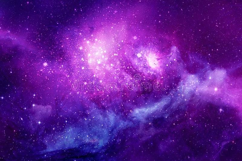 Artistic Multicolored Beautiful Unique Galaxy Background. Abstract colorful nebula unique galaxy filled with glowing stars as a unique background royalty free stock image