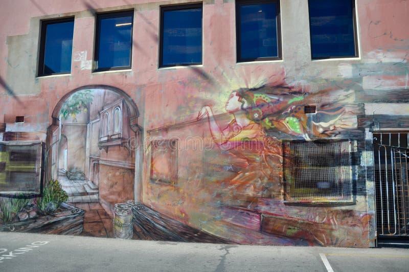 Artistic Mural in Fremantle, Western Australia royalty free stock image