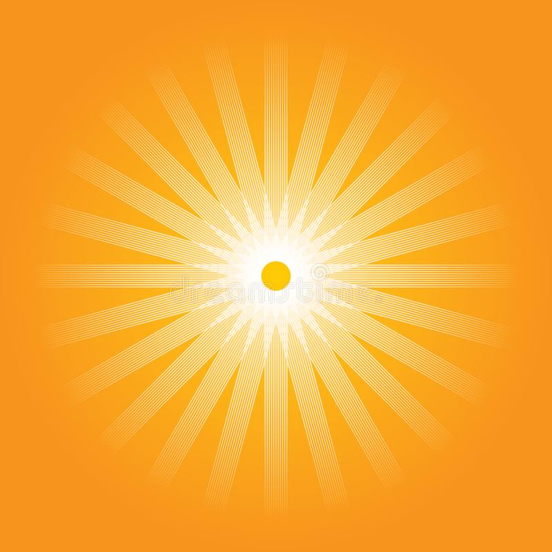 Artistic orange sun illustration with vibrant color vector illustration