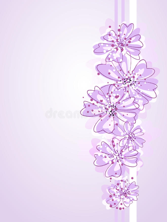 Artistic pastel flowers. Romantic Flower Background. Pink flowers royalty free illustration