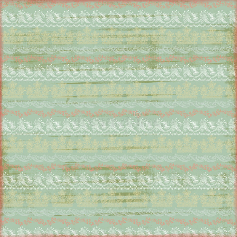 Artistic Pastel Shabby Lace Stamped Paper royalty free illustration