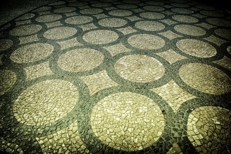 Artistic pavement stock image