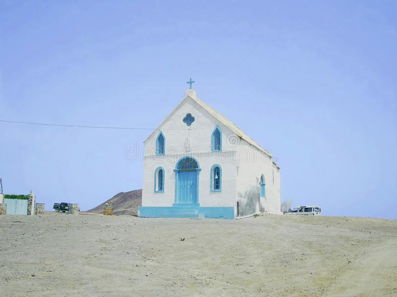 Old church in Cape Verde royalty free stock images