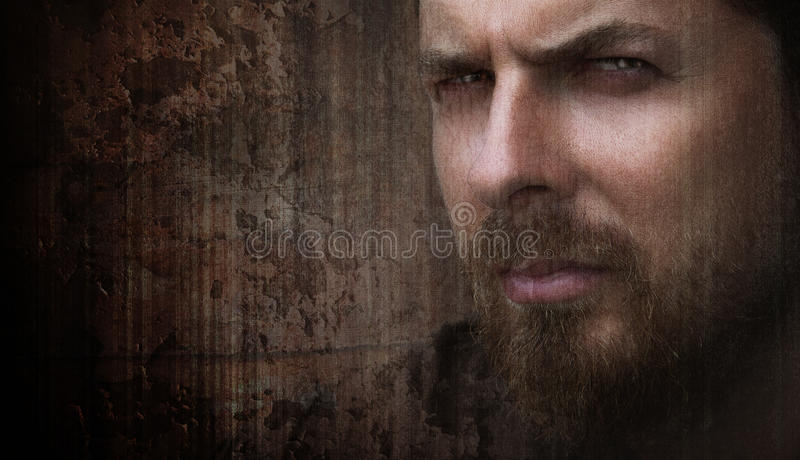 Artistic portrait of cool man with nice eyes royalty free stock photography