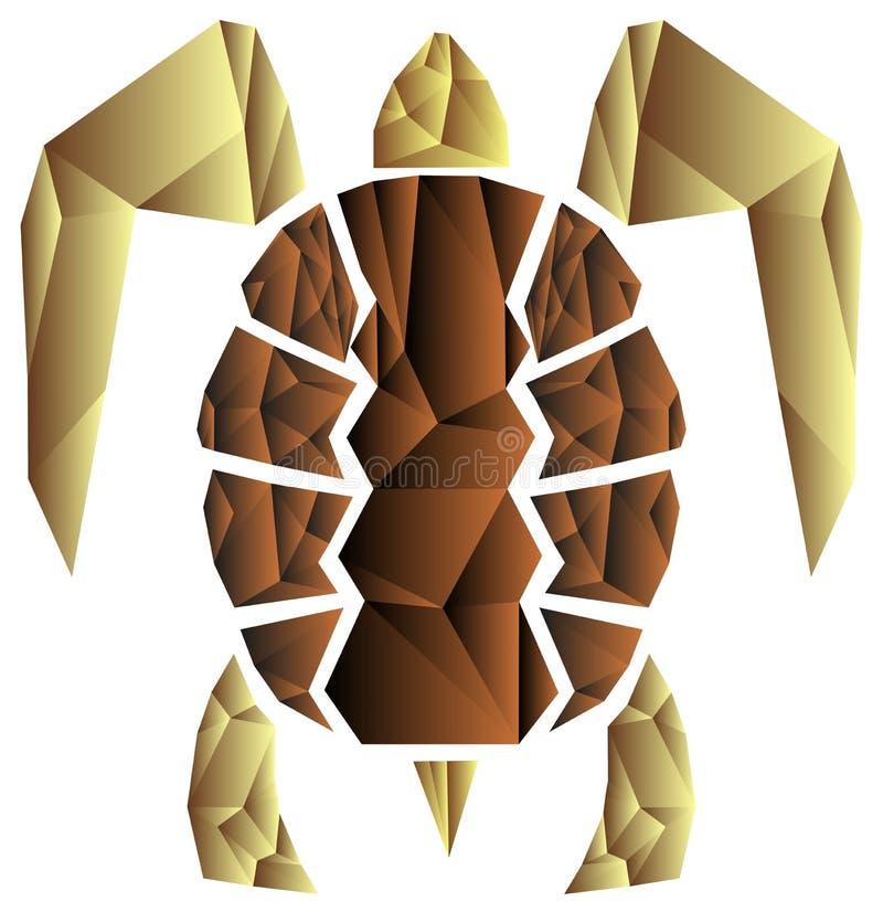artistic sea turtle vector illustration