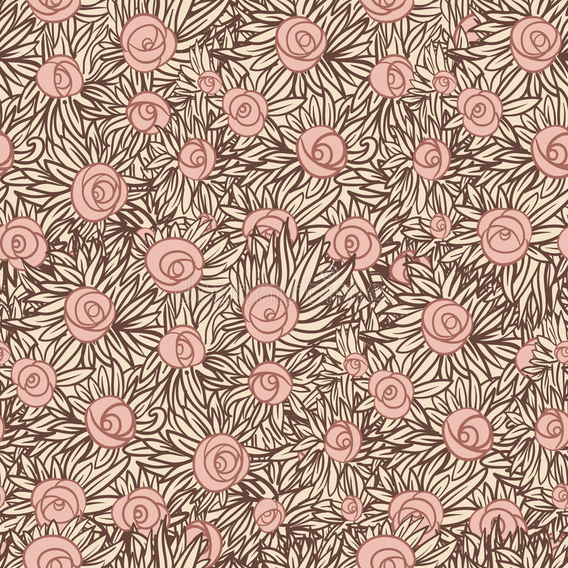 Download Artistic Seamless Pattern With Roses Stock Vector - Image: 25711442