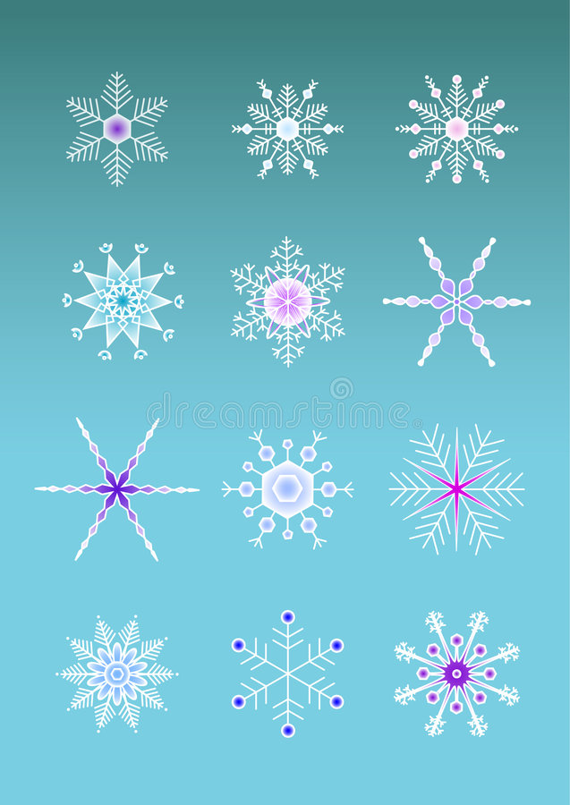 Download Artistic snowflakes stock vector. Image of ilustrations - 5829663