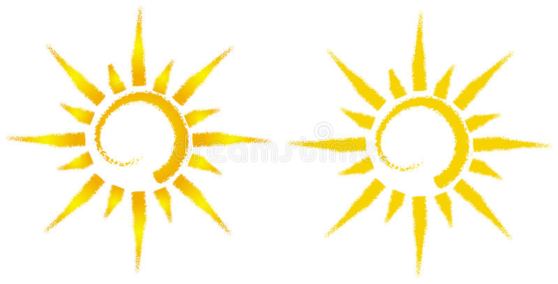 Artistic sun illustration royalty free illustration