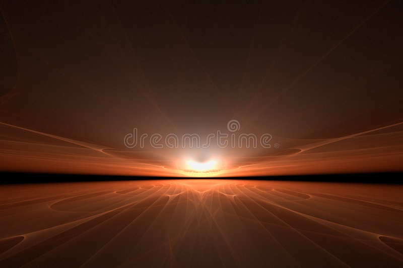 Artistic sunset vector illustration