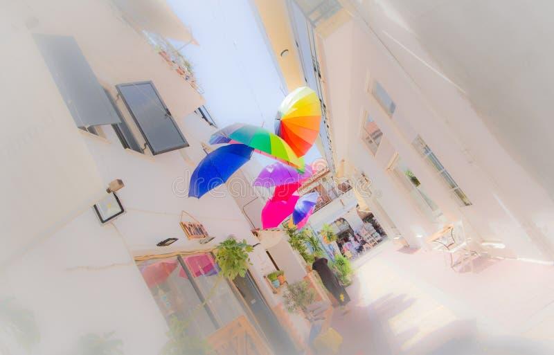 Artistic umbrellas royalty free stock photography