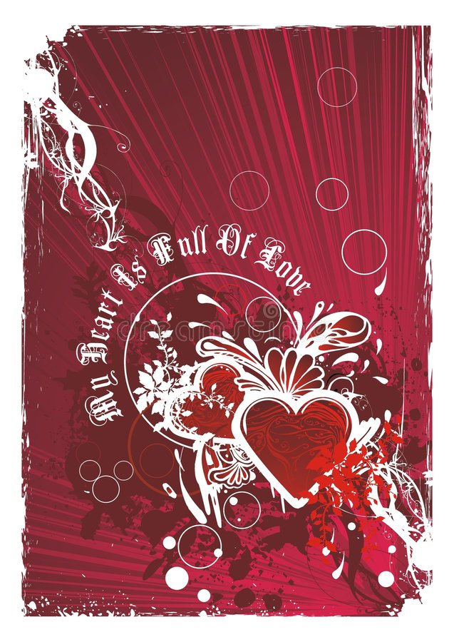 Artistic valentines background illustration vector illustration