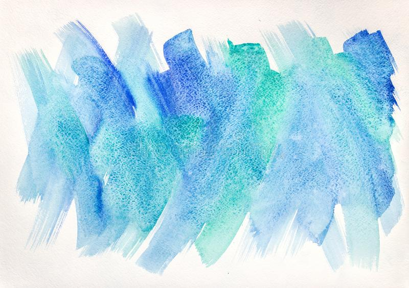 Artistic watercolor background with expressive brush strokes. Abstract artistic watercolor background with expressive brush strokes stock image