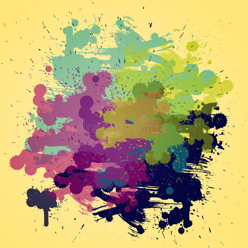 Artistic  Watercolor Background With Semi Royalty Free Stock Photography