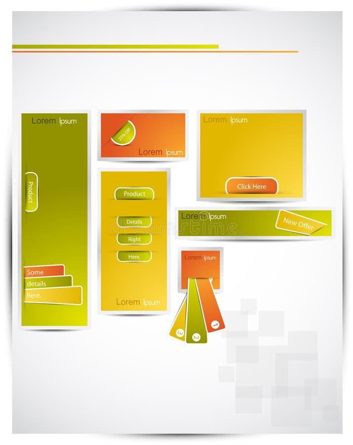 Artistic web banners vector illustration