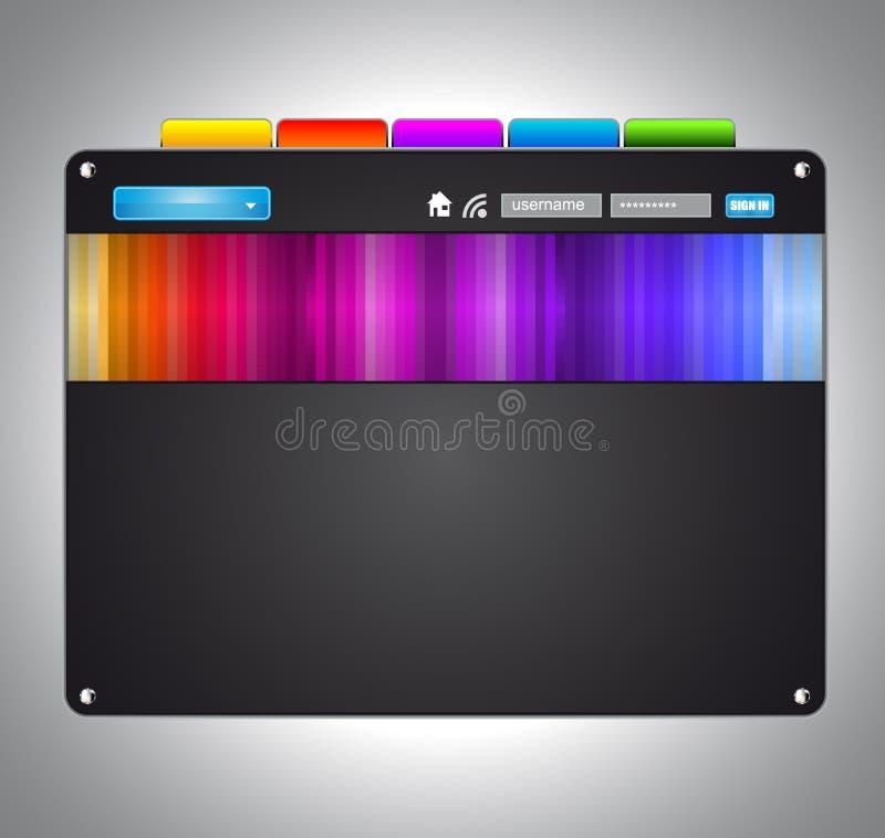 Artistic WebDesign Template. Modern Artistic WebDesign Template with original Design elements and Colours stock illustration