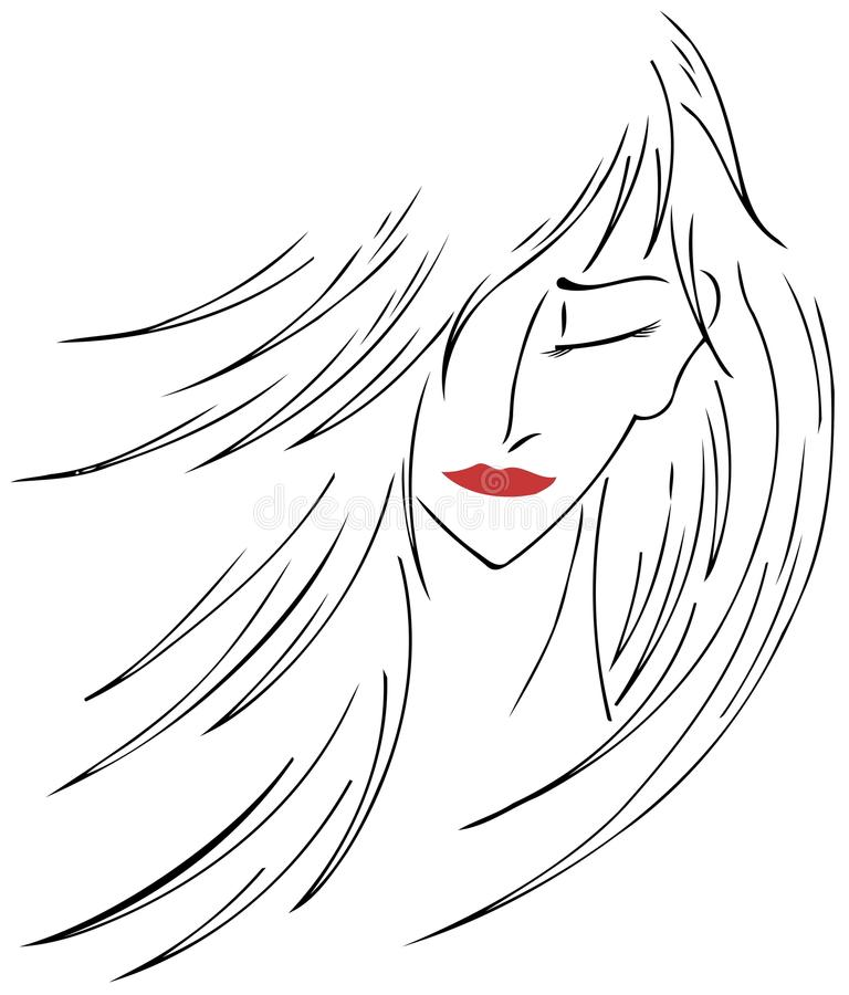 Artistic woman face royalty free stock photo