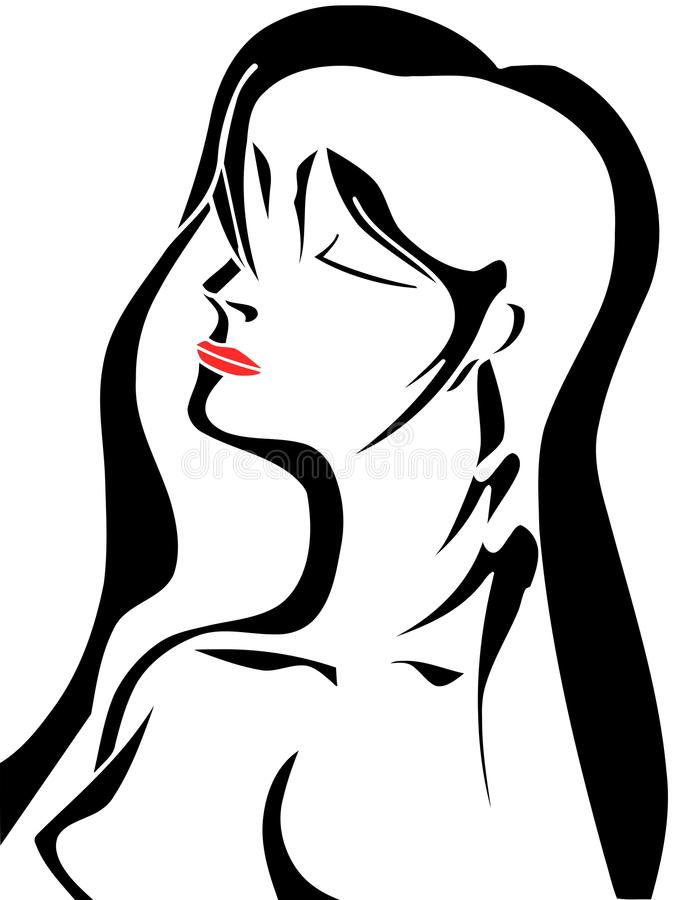 Artistic woman face royalty free stock images