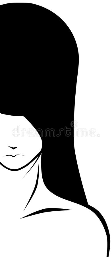Artistic woman face stock images