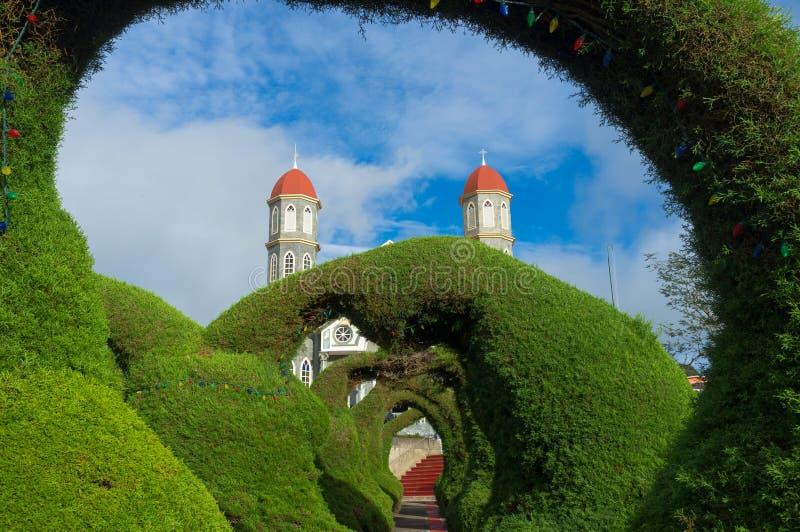 Artistic Zarcero park stock image