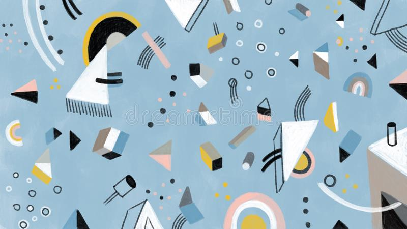Artistiek abstract hand getrokken volledig scherm bacground stock fotografie