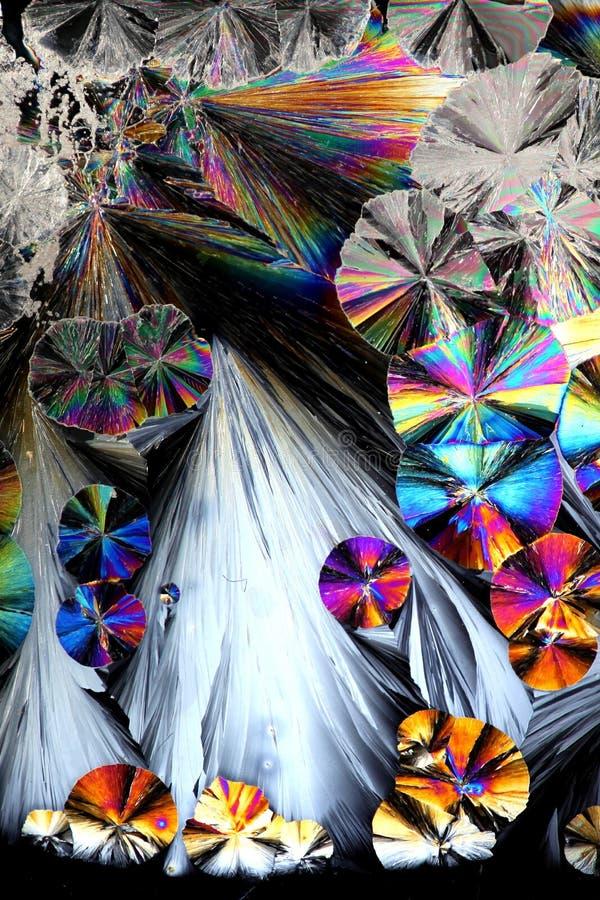 Artistiek beeld van kristallen van citroenzuur royalty-vrije stock afbeelding