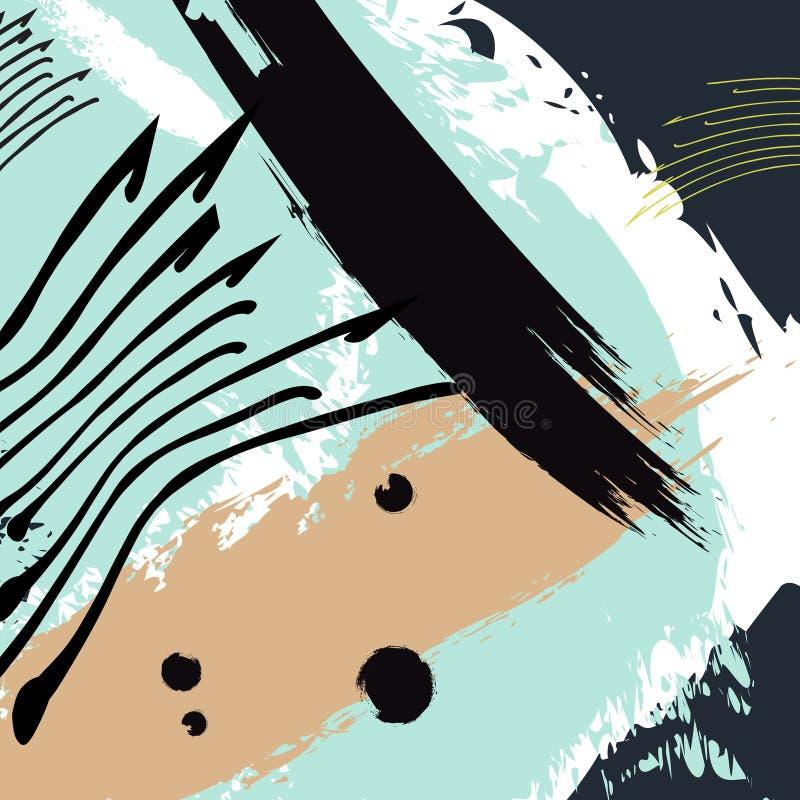 Artistiek creatief eigentijds universeel patroon Hand Getrokken texturen Huwelijk, verjaardag, verjaardag, partijdecoratie stock illustratie