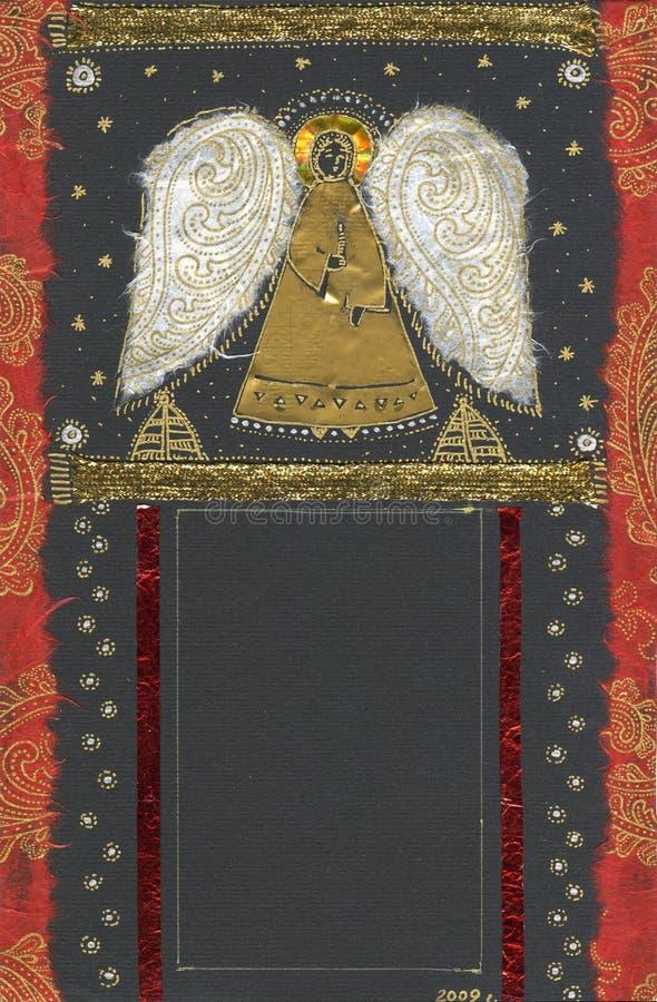 Artistiek frame met engel. stock afbeeldingen