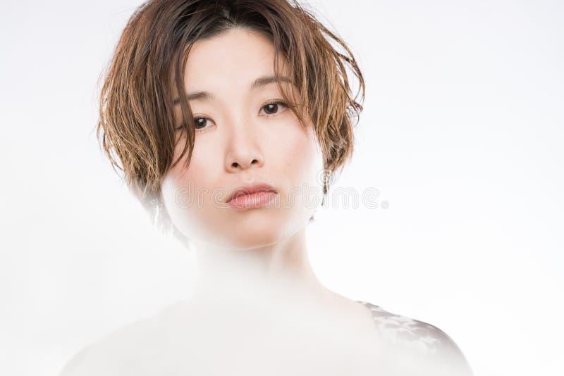 Artistiek Japans Vrouwenportret stock afbeeldingen