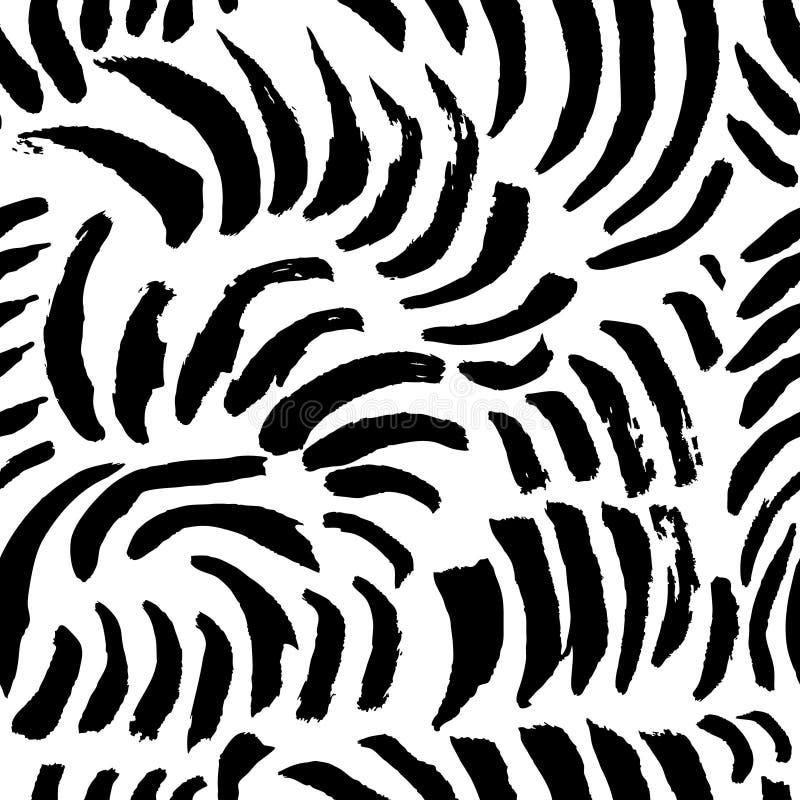 Artistiek naadloos patroon met abstracte eenvoudig elementen doodle stock illustratie