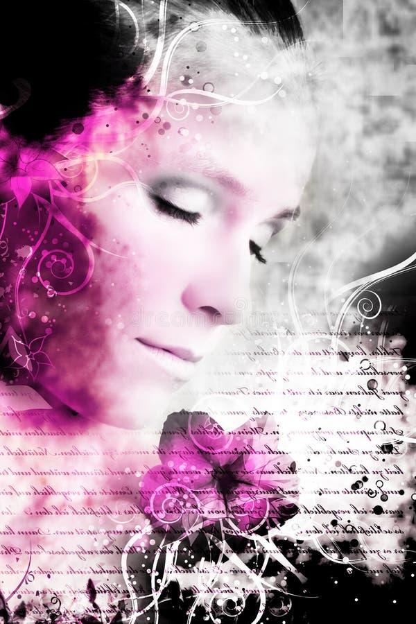 artistiek schoonheidsportret stock fotografie