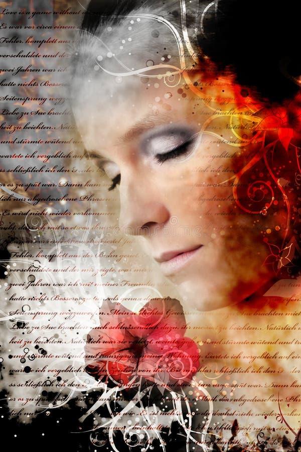 artistiek schoonheidsportret stock foto
