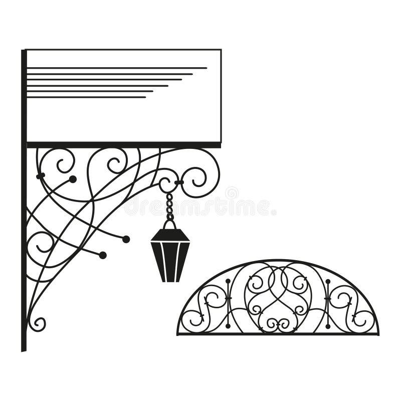 Artistiek smeedstuk vector illustratie