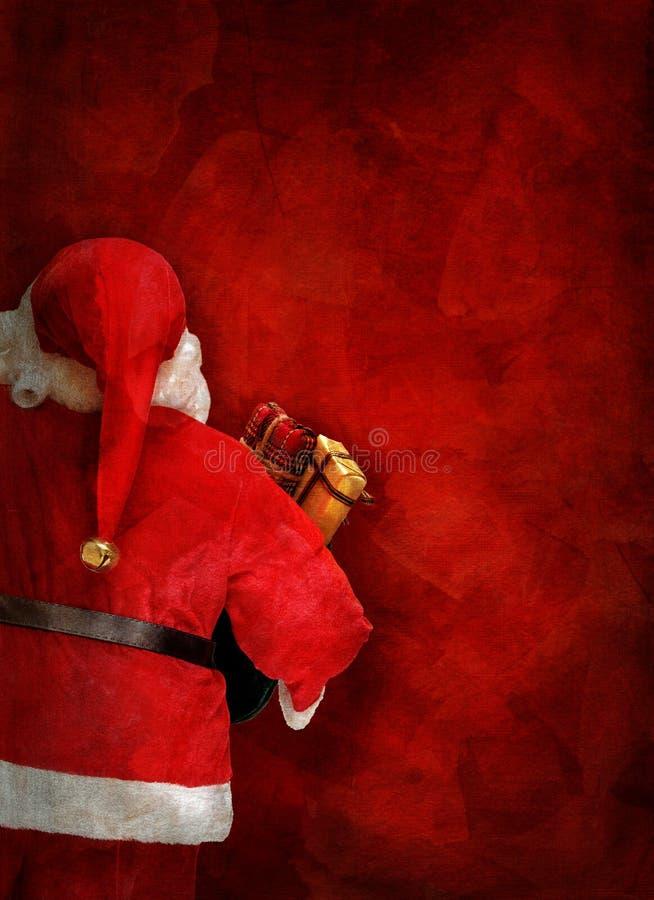 Artistiek van de groetkaart of affiche ontwerp met Santa Claus-pop vector illustratie