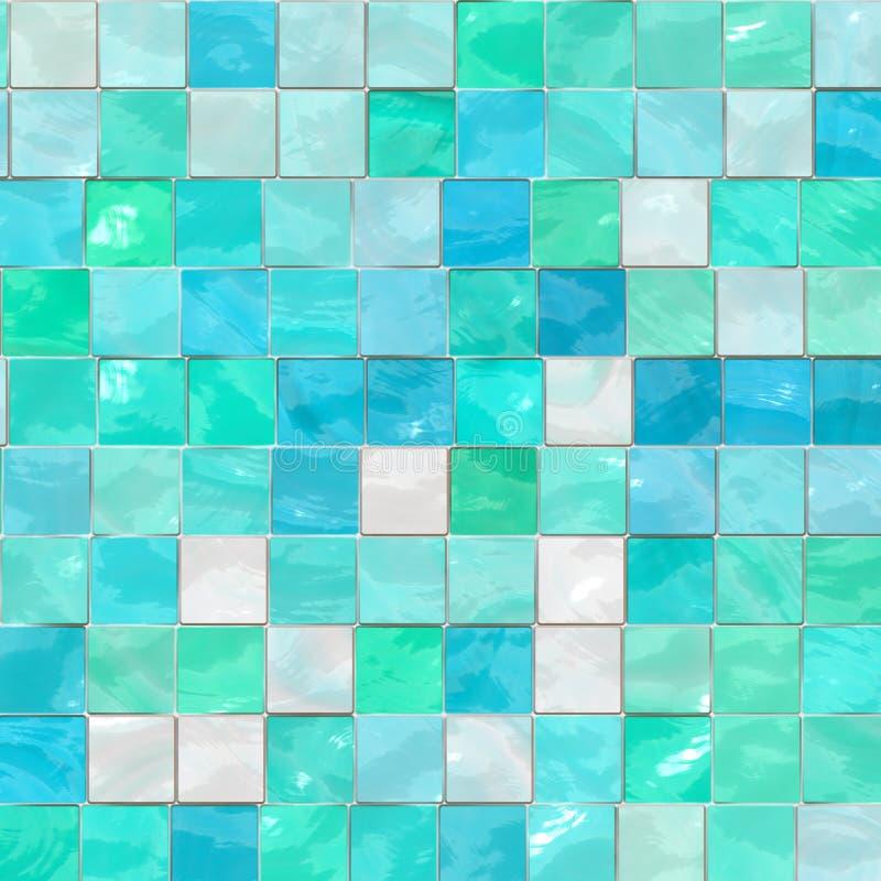 Artistieke blauwe tegels royalty-vrije illustratie