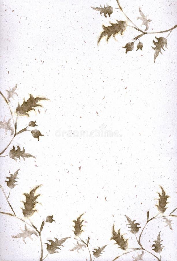 Artistieke bloemengrens en hoek vector illustratie