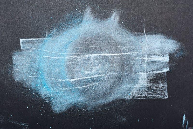 Artistieke Cirkel van blauwe en witte Verfdeeltjes stock foto