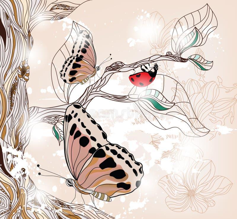 Artistieke de lentescène stock illustratie