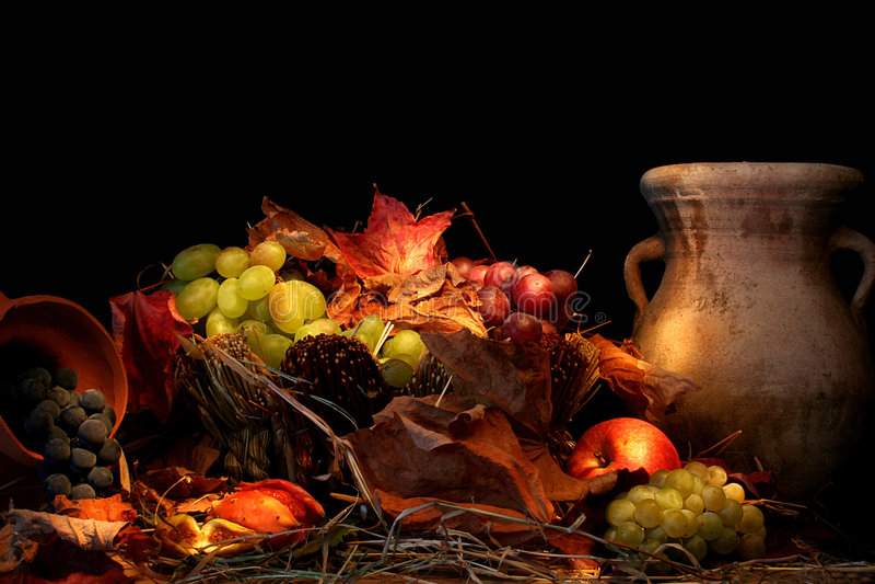 artistieke druivensamenstelling royalty-vrije stock afbeeldingen
