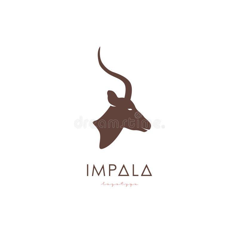 Artistieke gestileerde Impala logotype royalty-vrije illustratie