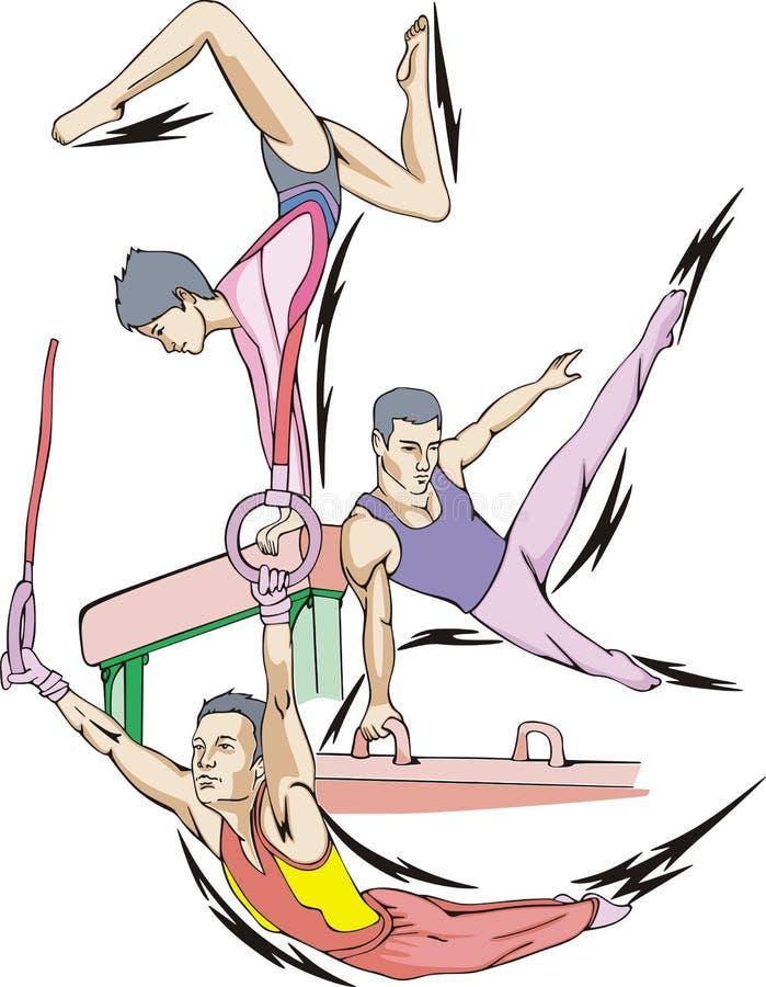 Artistieke gymnastiek vector illustratie