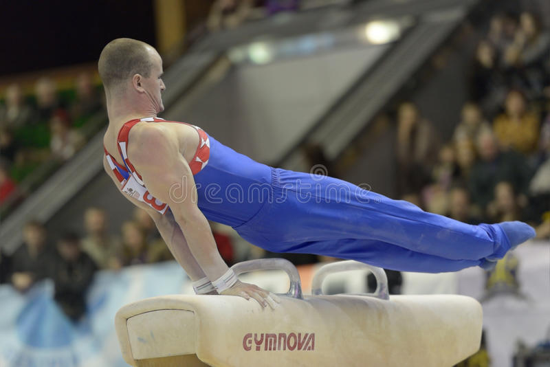 Artistieke Gymnastiek royalty-vrije stock afbeelding