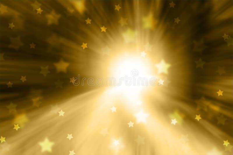 Artistieke Kerstmis vertroebelde de achtergrond van stervormen vector illustratie