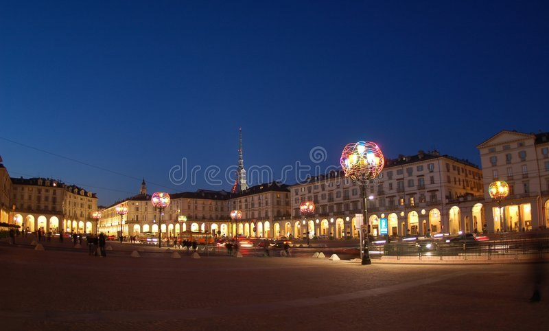 Artistieke lampen in Turijn stock afbeelding